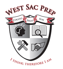 West Sac Prep shield icon - I think: therefore I am